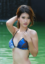 Lao girl struts her stuff for hot photo shoot