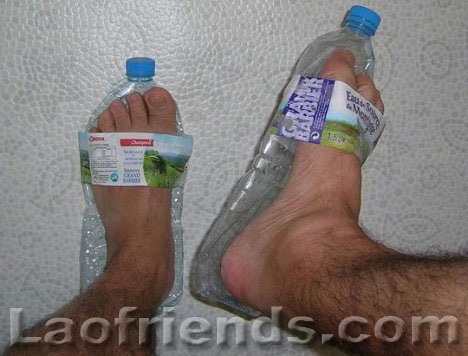 Water bottle sandal